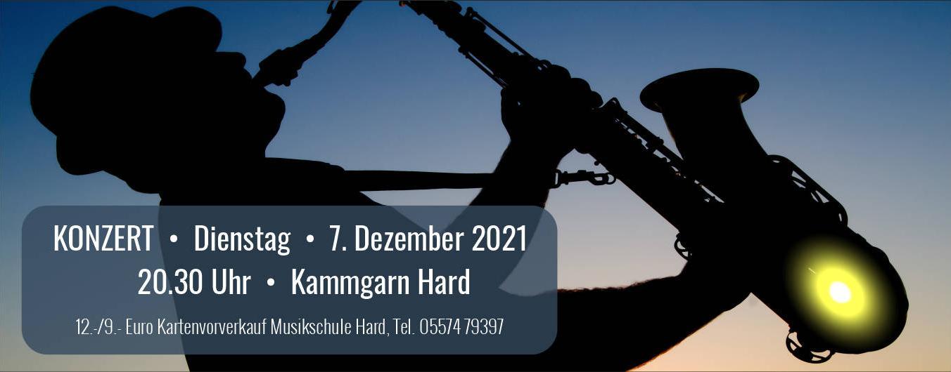 Konzert der Bigband Hard am 7. Dezember 2021